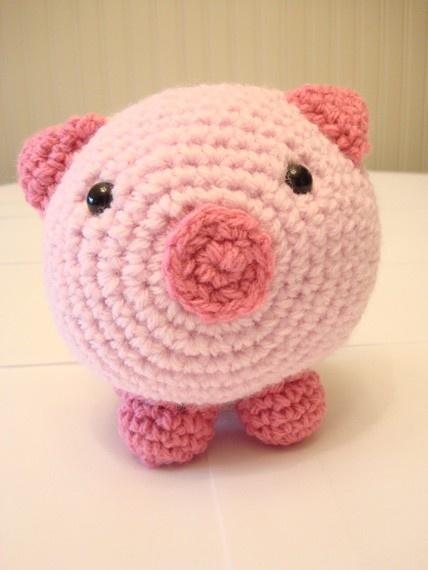 Free Crochet Baby Pig Hat Pattern : Crocheted Baby Pig Crochet Pinterest
