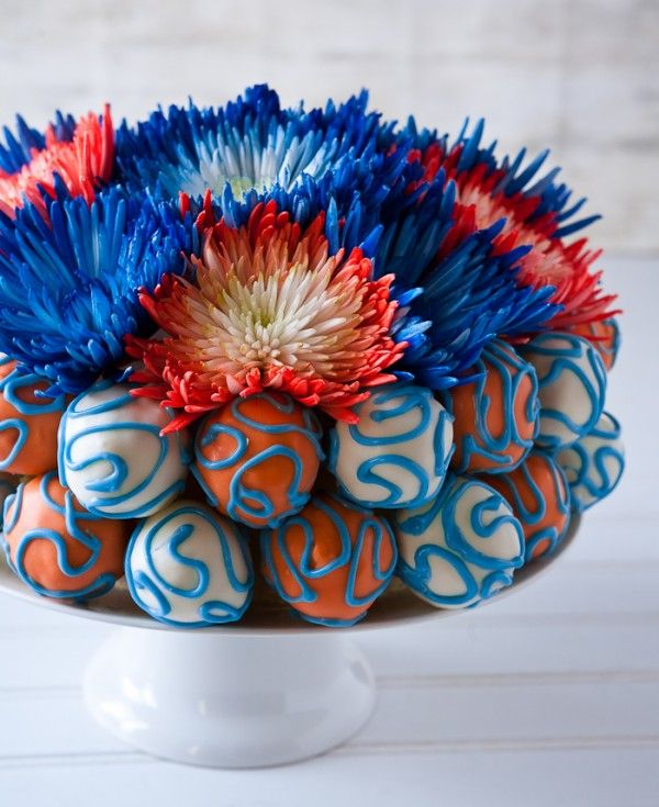red, white, & blue cake pops cake! | Fun with Food | Pinterest