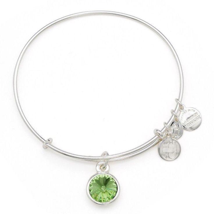 Alex and ani august birthstone bangle bar expandable bracelet