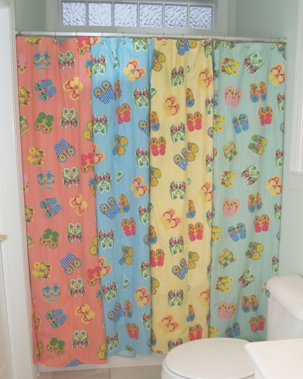 Shower Curtains With Birds Flip Flop Bath Ensemble