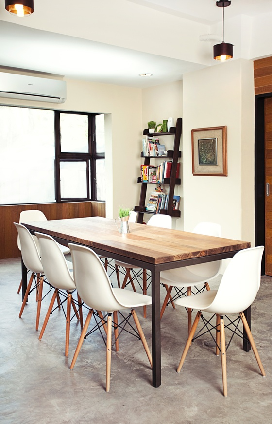 dining table with Eames chairs Metal projects Pinterest