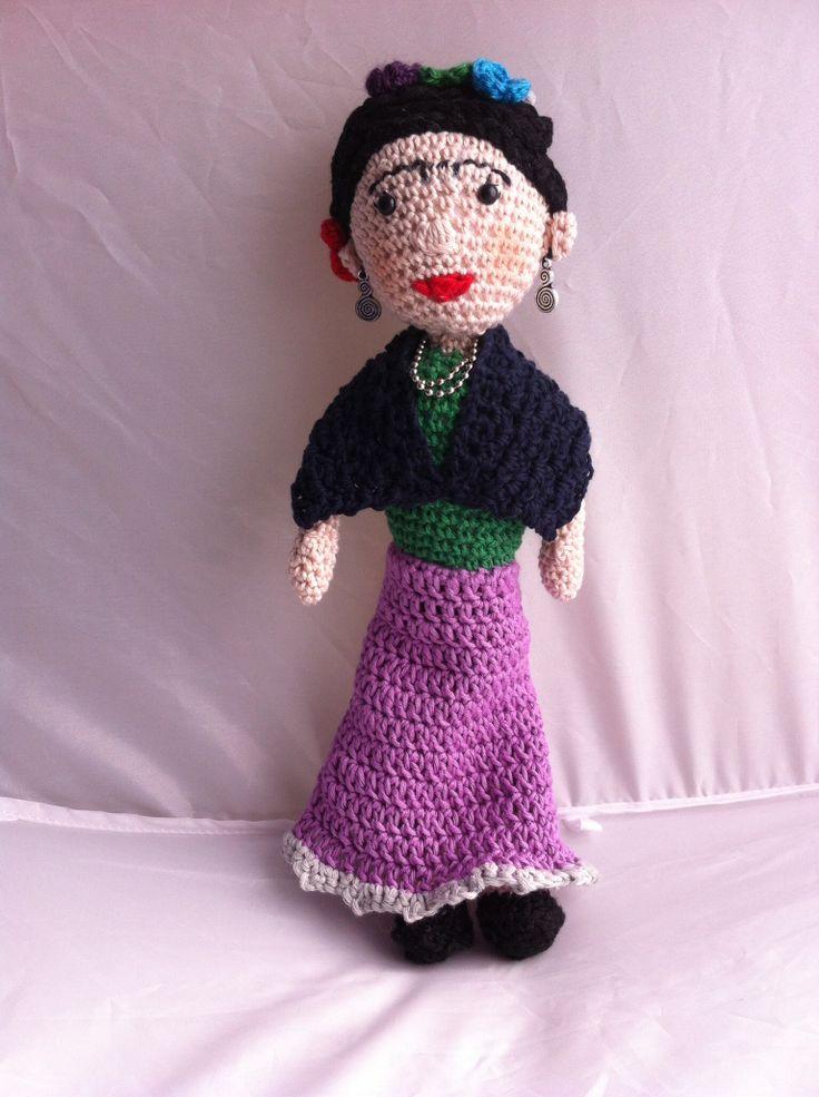 Frida Kahlo amigurumi - crochet Amigurumi dolls Pinterest