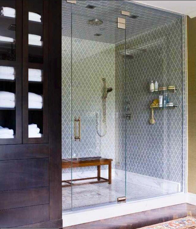 Master bath shower tile bathroom pinterest for Tile master bathroom ideas