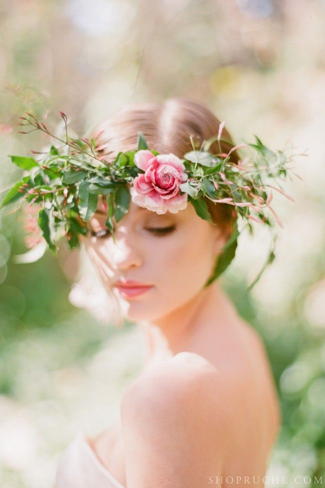 Untamed flower crown - via Ruche. - I must have a few of these for the spring. wild, tamed, and otherwise