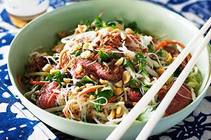 Vietnamese-style beef and noodle salad | Recipes I wanna try | Pinter ...