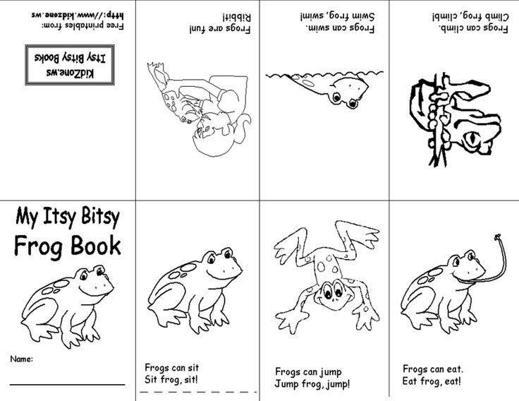 Frog book | One Sheet Mini Books | Pinterest