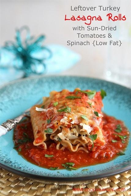 Leftover Turkey (or Chicken) Lasagna Roll Recipe with Sun-Dried ...