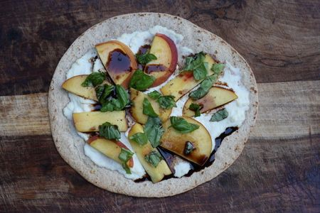 ... basil salad peach basil mozzarella balsamic pizza recipe two peas