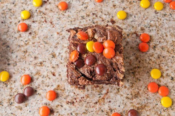 Flourless Triple Chocolate Peanut Butter Brownies | Sensationally ...
