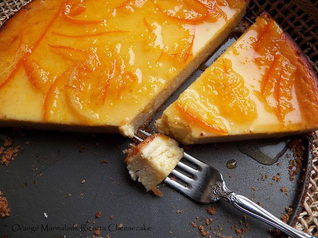 Orange-Vanilla Ricotta Cheesecake | Recipes, Food, Cooking and Travel ...
