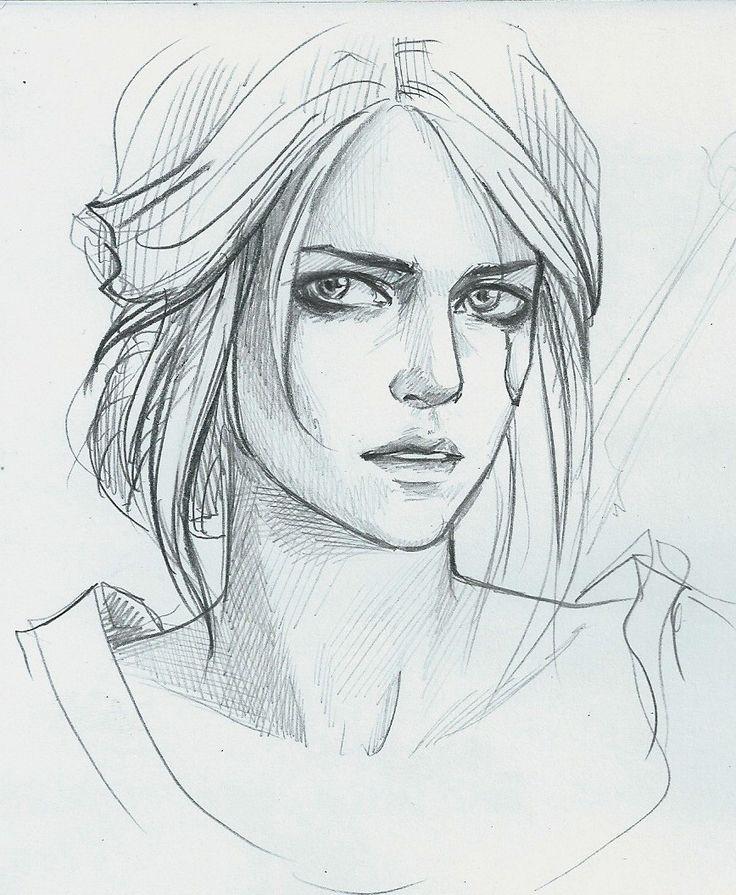 Арт рисунок девушки карандашом поэтапно