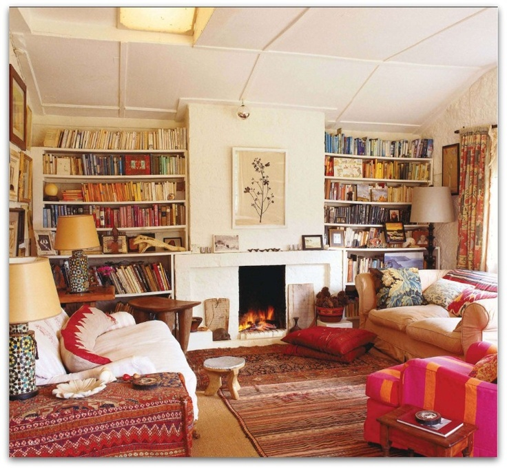 Emma Campbell's cozy bohemian home featured in The World Of Interiors