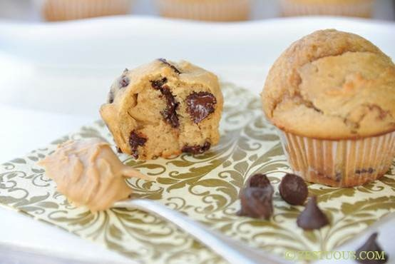 chocolate peanut butter mini muffins | Favorite Recipes | Pinterest