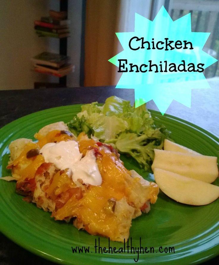 Easy Chicken enchiladas! | Dinner Recipes | Pinterest