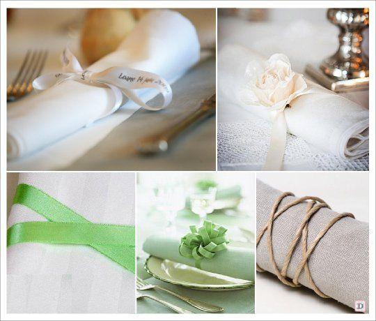 rond serviette ruban cordelette ruban personnalise