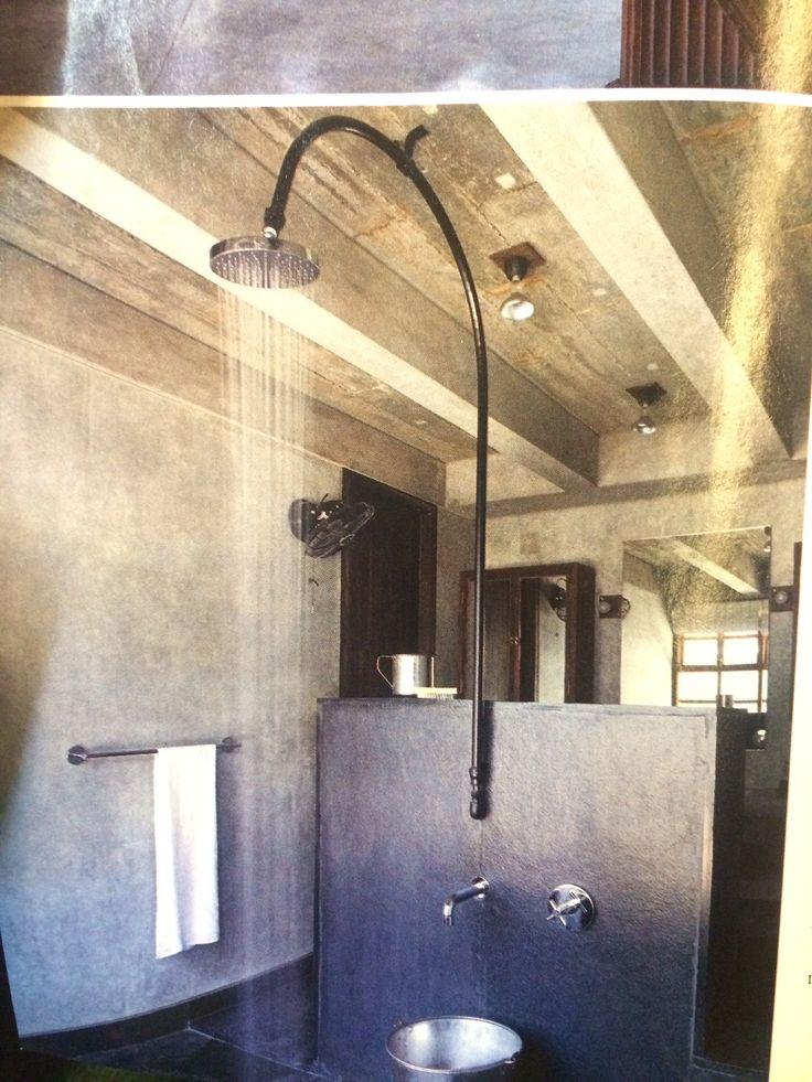 Exposed Pipe Rain Shower Bath Pinterest