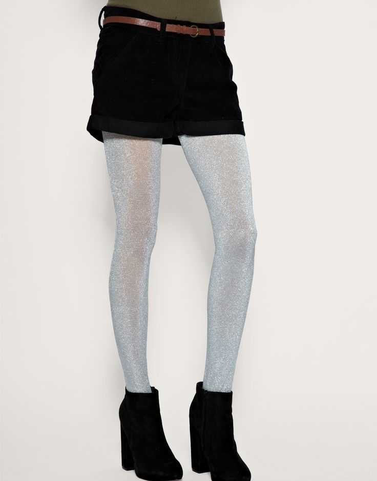 41e39d14b82c5 Dress womens clothing: Silver glitter tights