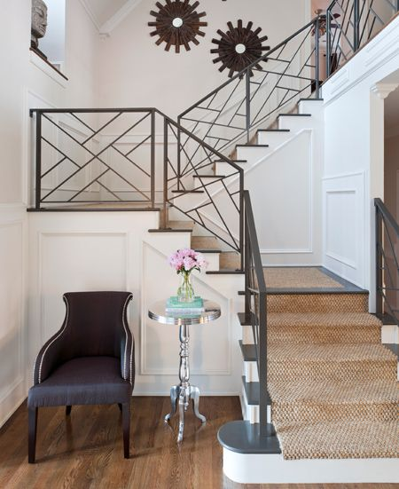 Elegant staircase with steel balustrade