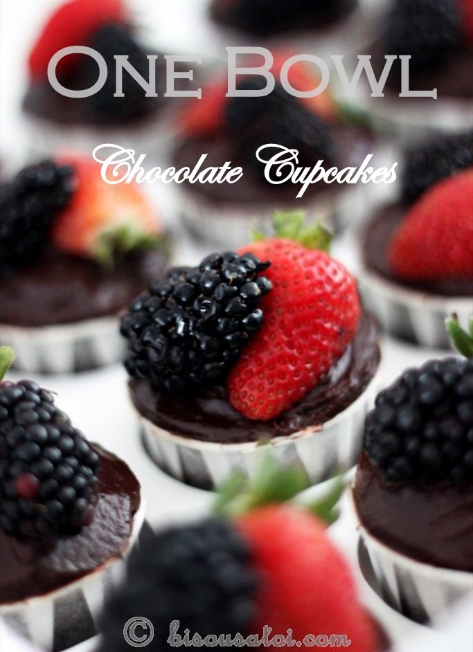 One-Bowl Chocolate Cupcakes   Cupcakes   Pinterest