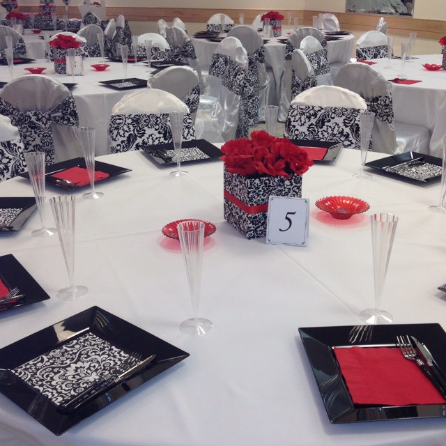 Red White And Black Party Decorations