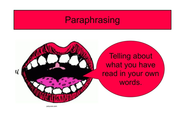 Summarizing and paraphrasing powerpoint strategies