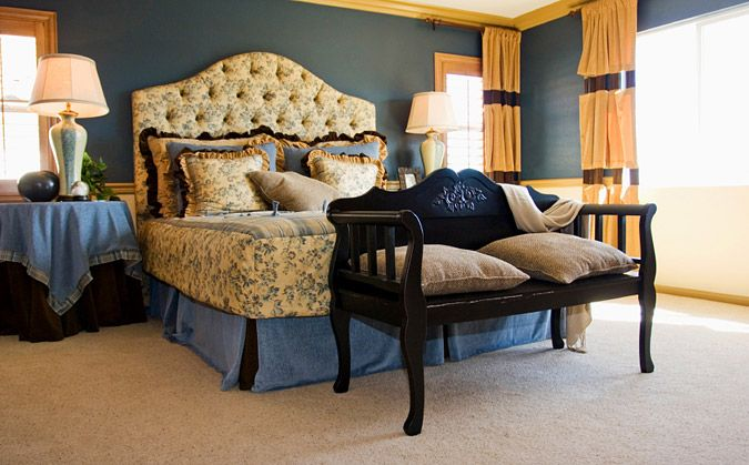 gold and blue bedroom decor my style