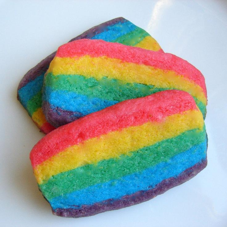 rainbow heart rainbow slice and bake sugar slice and bake cookie ...