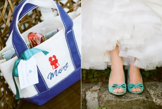 Maine Wedding Gift Bag Ideas : Maine welcome bag makes a great gift for your wedding guests. Photo ...