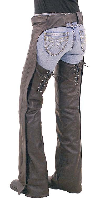 Ladies Sexy Lace Up Western Chaps