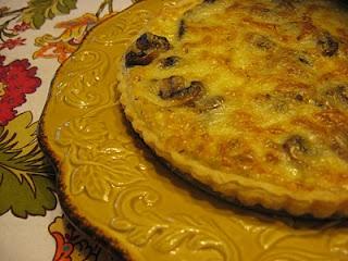 Mushroom and Caramelized Onion Tart | Baker Becky Recipes | Pinterest