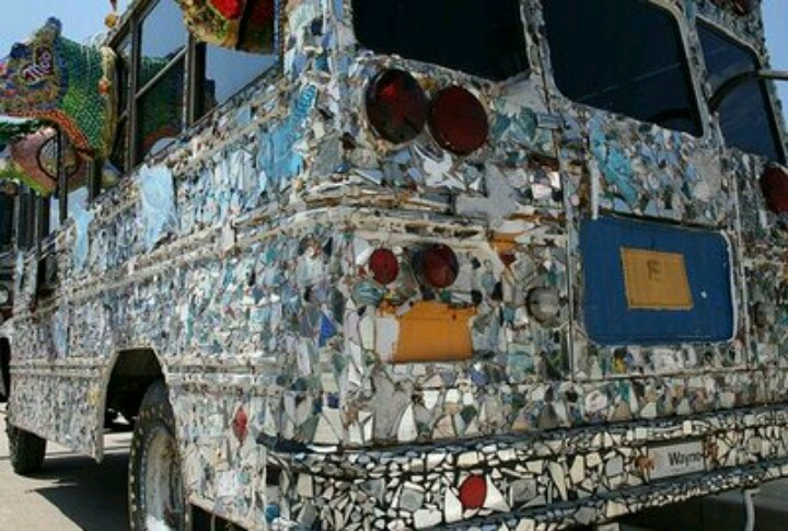 Mosaic with mirror pieces! | Bus things | Pinterest