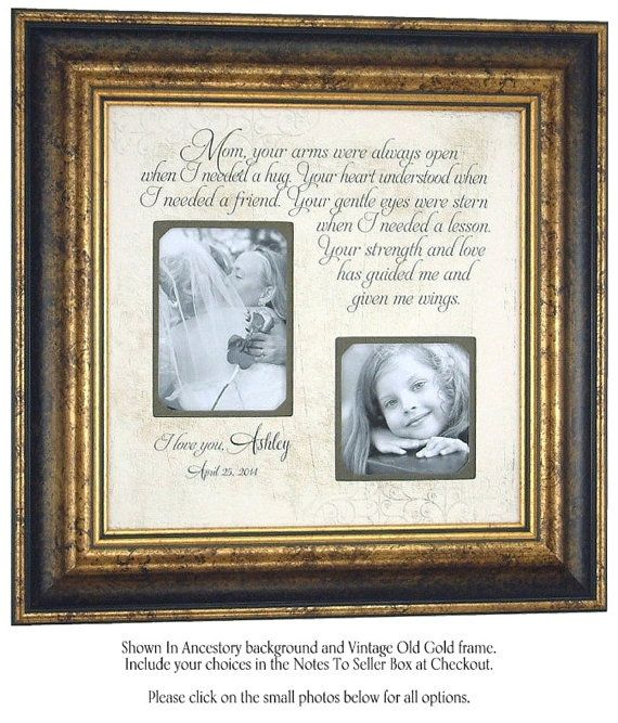 Personalized Wedding Photo Frame Mother of by PhotoFrameOriginals, USD79 ...
