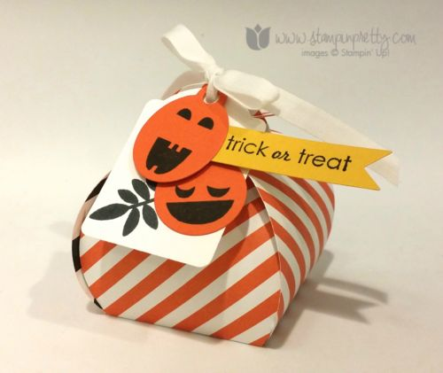 Stampin up stampin' up! mary fish halloween curvy keepsake treat box thinlits dies... Great pumpkin tags...