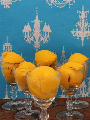 21 Frozen Desserts...Made With Alcohol - Mango Sorbet Surprise