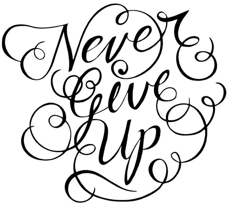 Never give up quote via www.Facebook.com/FionaChilds