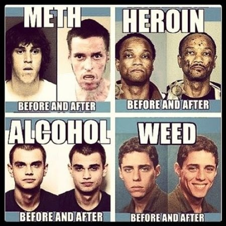 Before and After Drug AbusePeople Before And After Drugs