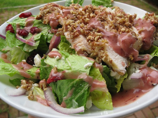 hint of honey: Pecan Crusted Chicken Salad with Cranberry ...