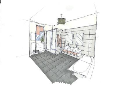 Pin by adc latelierdac t on projets de l 39 atelier home for Croquis salle de bain