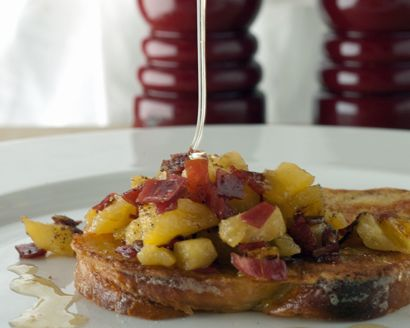 French Toast with Pineapple Marmalade and Viande des Grisons