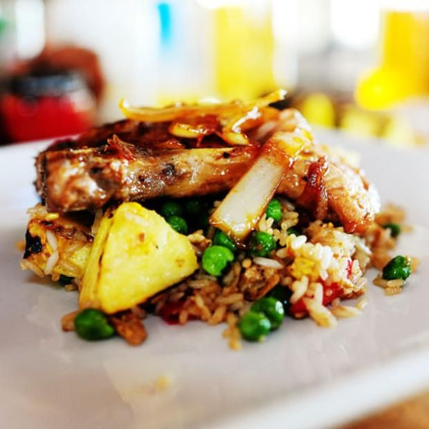 Pork Chops With Pineapple Fried Rice | Recipes to Cook | Pinterest