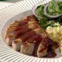 Pork with Savory Raspberry Tea Sauce. | Pork Chop Recipes | Pinterest