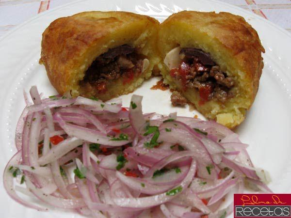 Papa rellena | Peruvian Cuisine --- Cocina Peruana | Pinterest