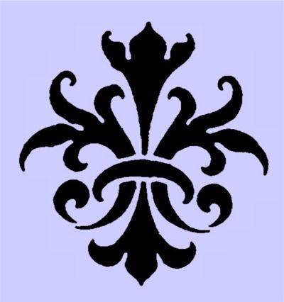 Victorian Fluer de lis Ornament Stencil