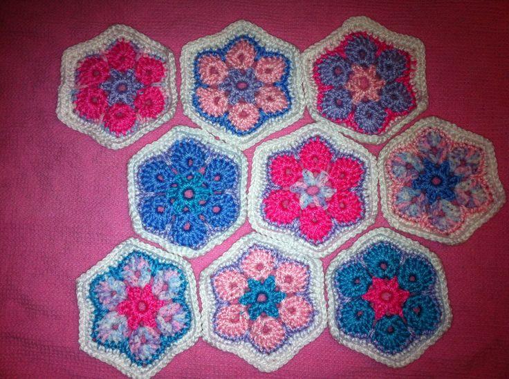 Crochet African Flower Pattern : African flower crochet pattern