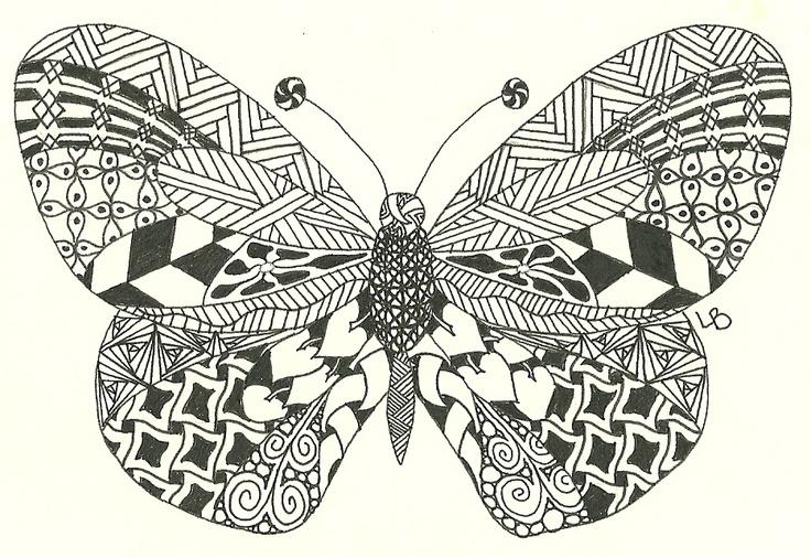 Zentangle Butterfly Zentangles Butterfly