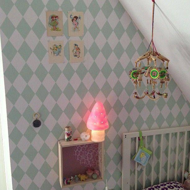 kinderkamer met heico figuurlamp paddestoel  Kinderlampen ...