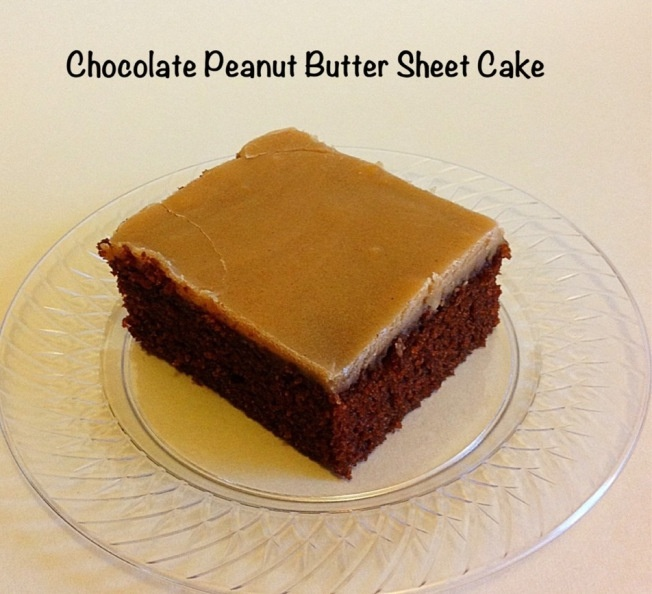 Chocolate Sheet Cake With Peanut Butter Frosting Recipe — Dishmaps