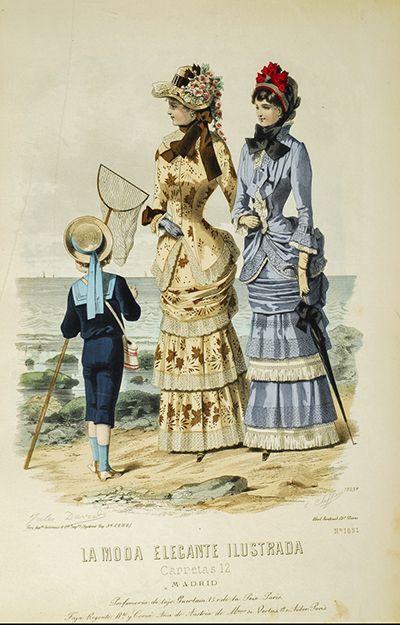 Seaside Victorian fashion plate