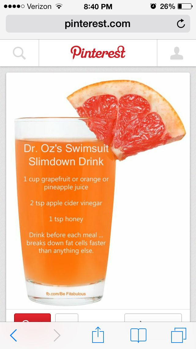 Dr Oz fat fighting drink