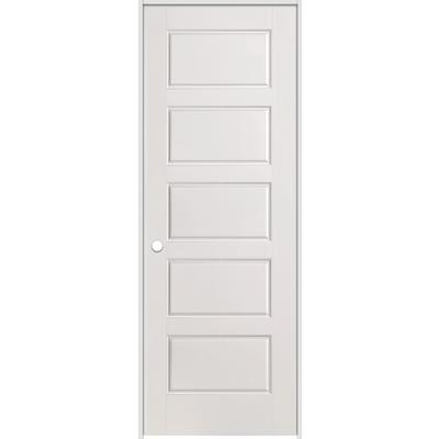 smooth prehung interior door with rabbeted jamb 28 inch x 80 inch